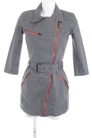 Wrangler Lange Jacke grau-lachs Street-Fashion-Look