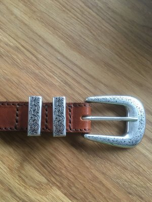 Wrangler Leather Belt brown-silver-colored