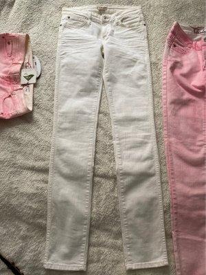 Wrangler Jeansy z prostymi nogawkami biały-w kolorze białej wełny