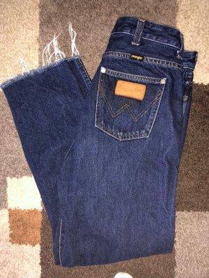 Wrangler Jeans taille haute bleu foncé