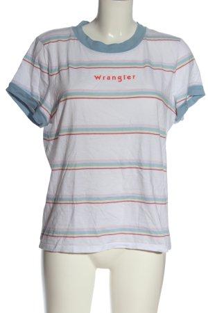 Wrangler Maglietta a righe caratteri stampati stile casual
