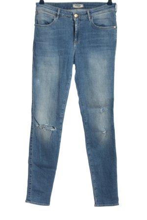 Wrangler Jeans cigarette bleu style décontracté