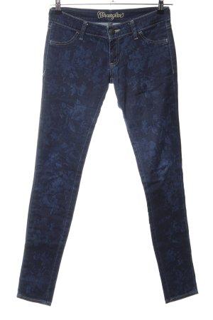 Wrangler Skinny Jeans blau Blumenmuster Casual-Look