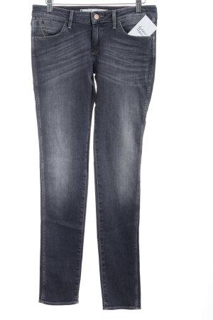 Wrangler Skinny Jeans anthrazit-wollweiß Washed-Optik