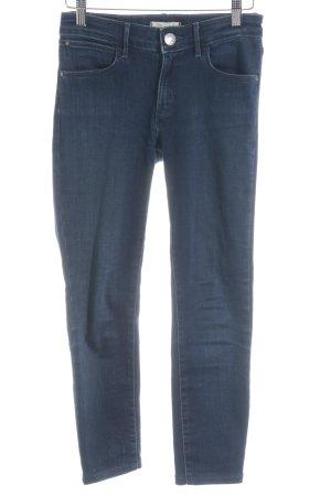 Wrangler Skinny Jeans dunkelblau Washed-Optik