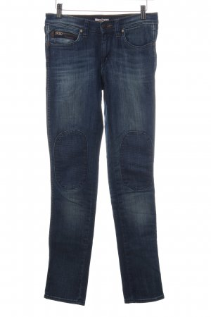 Wrangler Slim Jeans blau Biker-Look