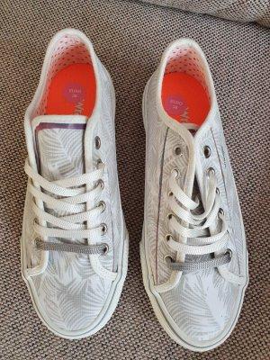 Wrangler Sneaker neu Größe 38 weiß silber Turnschuhe Plateau