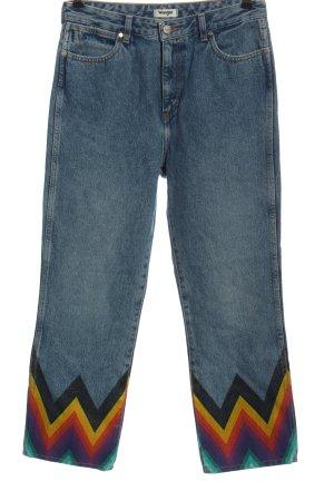 Wrangler Jeans a gamba dritta blu motivo a righe stile casual