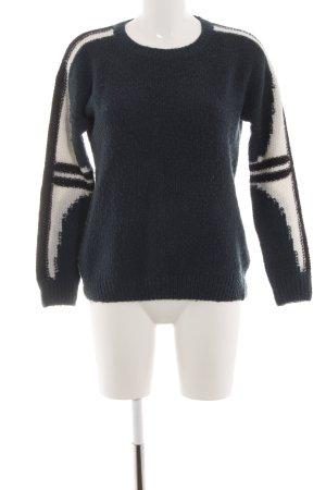 Wrangler Strickpullover schwarz-weiß Casual-Look
