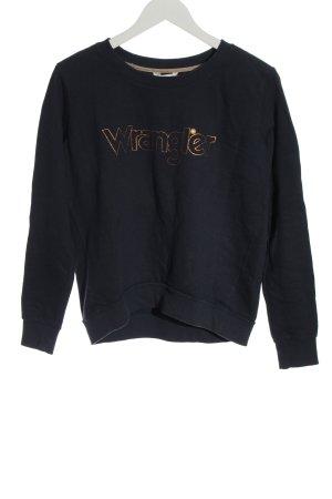 Wrangler Sweatshirt noir lettrage imprimé style décontracté
