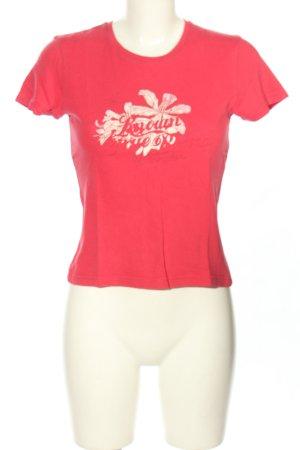 Wrangler T-shirt czerwony Wydrukowane logo W stylu casual