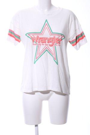 Wrangler T-Shirt weiß Motivdruck Casual-Look
