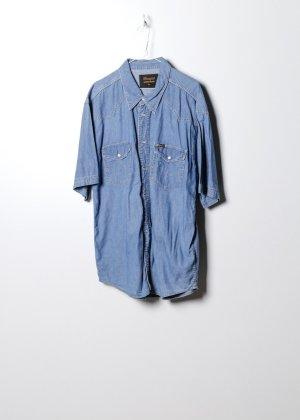 Wrangler Unisex Jeanshemd in Blau