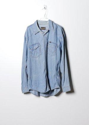 Wrangler Jeansowa koszula niebieski Denim