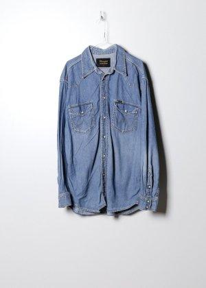 Wrangler Koszula z długim rękawem niebieski Denim