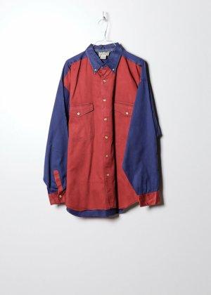 Wrangler Camicia a maniche lunghe rosso Denim