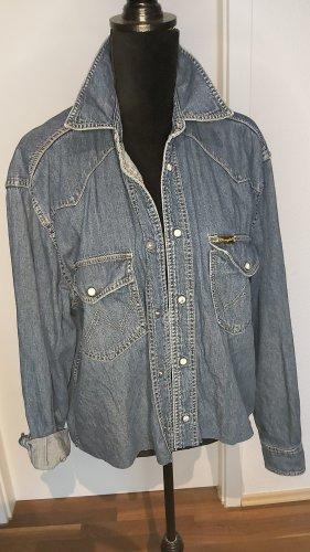 Wrangler Jeans blouse blauw
