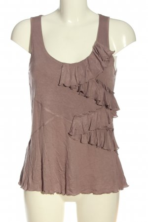 Wrap Sleeveless Blouse brown casual look
