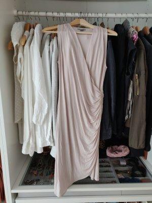Wrap Dress Wickelkleid nude H&M satin puder S