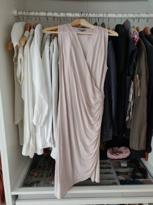 Wrap Dress Wickelkleid nude H&M satin puder S