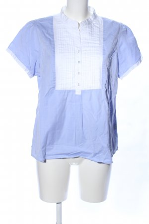 Wrap Hemd-Bluse blau-weiß Casual-Look