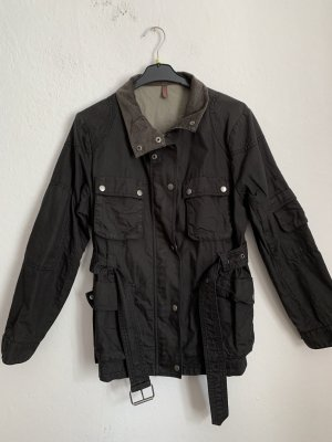 Wrap Waxed Jacket black-grey