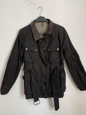 Wrap Woskowana kurtka czarny-szary