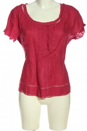 Wrap Short Sleeved Blouse pink casual look