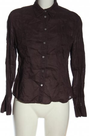 Wrap Long Sleeve Shirt lilac elegant
