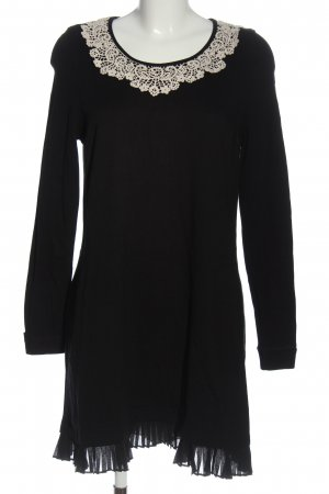Wrap Longsleeve Dress black-white business style
