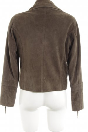 Wrap Lederjacke bronzefarben Casual-Look