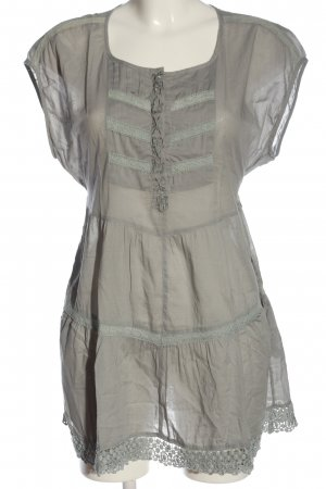 Wrap Long Blouse natural white-light grey casual look