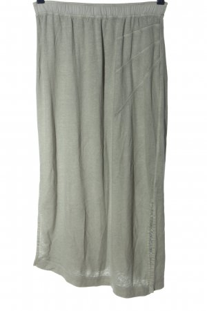 Wrap Midi Skirt light grey flecked casual look