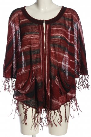 Wrap Cardigan red-black flecked casual look