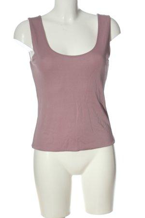 Wrap Top in seta rosa stile casual