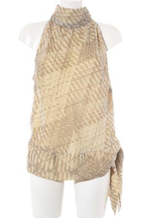 Wrap Seidentop creme-hellbraun abstraktes Muster Elegant