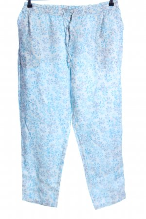 Wrap Stoffhose blau-weiß Allover-Druck Casual-Look