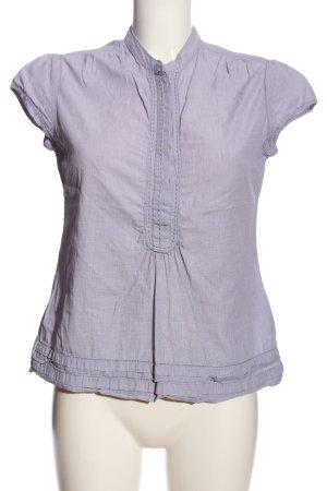 Wrap V-Ausschnitt-Shirt blau Casual-Look