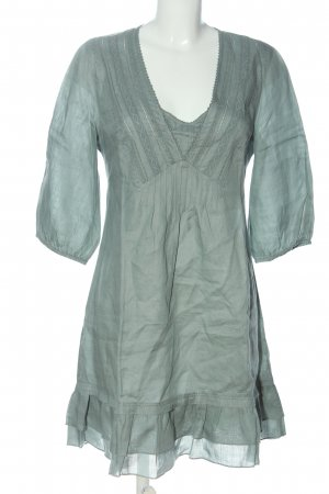 Wrap Flounce Dress turquoise casual look