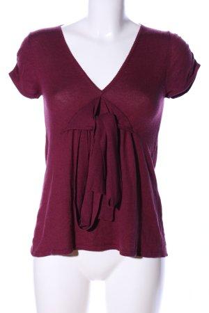 Wrap Camicetta aderente rosso stile casual