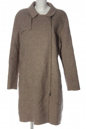 Wrap Wool Coat natural white flecked casual look