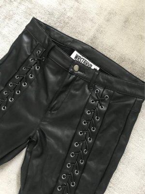 WRSTBHVR Leather Trousers black