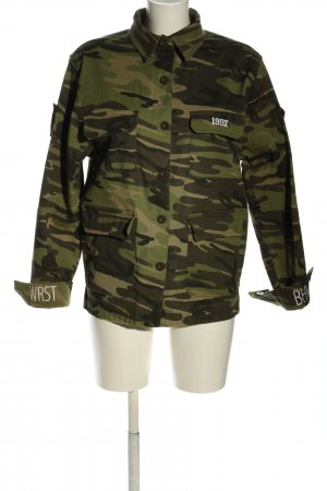 WRSTBHVR Military Jacket brown-green camouflage pattern casual look