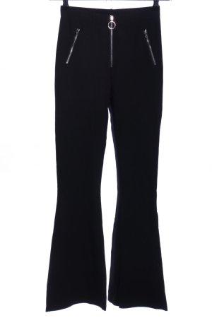 WRSTBHVR Broek met wijd uitlopende pijpen zwart elegant