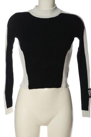 WRSTBHVR Knitted Sweater black-white casual look