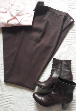 Elegante Stoffhose High Waist in bordeaux Business Casual Streetfashion Made in Italy