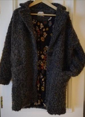 aus Italien Manteau en laine gris-gris foncé