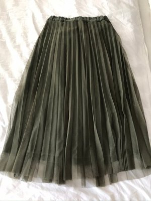 Tulle Skirt green grey