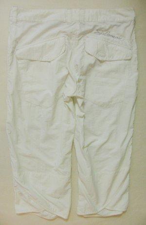 Wunderbare, neuwertige SALOMON Outdoor-Pants..Capri, 3/4..Wandern,Trekking..weiss, wollweiss..Größe DE 38