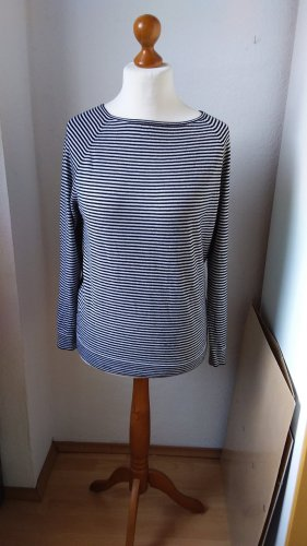 (The Mercer) NY Pull tricoté noir-blanc laine mérinos